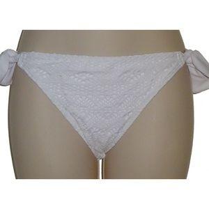 Hula Honey white crochet bikini bottom S